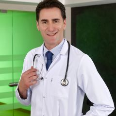 Male Classic Collar Visiting Doctor Apron (Alpaca Fabric)