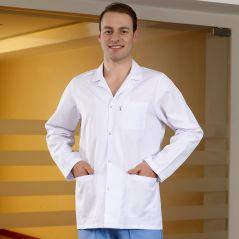 Men's Classic Collar Lab Coat (Alpaca Fabric)
