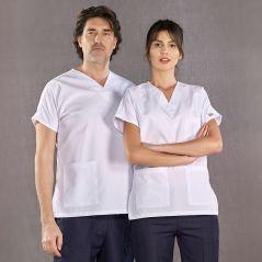 Dr Greys Model Top White Bottom Navy Blue Suit (Alpaca Fabric)