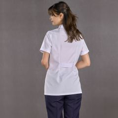 Women's Judge Collar Short Sleeve Short Apron (Alpaca Fabric)