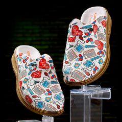 Men's Vivacolor Patterned Sabo Slippers
