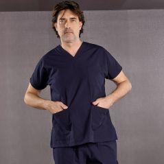 Lacivert Dr Greys Modeli Hemşire Doktor Forması Cerrahi Takım Scrubs Terikoton İnce Kumaş